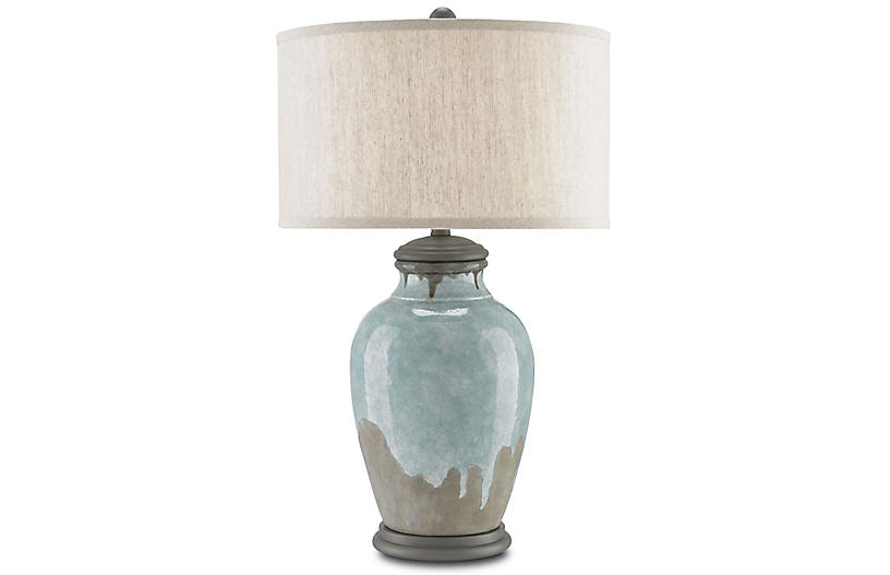 Chatswood Table Lamp, Blue/Gray