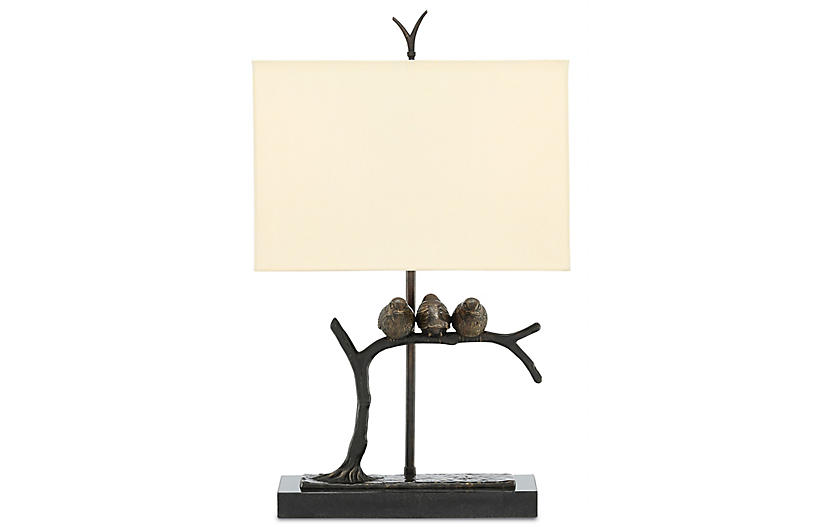 Sparrow Table Lamp, Bronze/Black