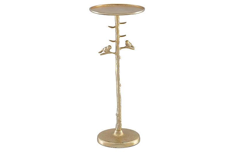 Piaf Drinks Table, Gold