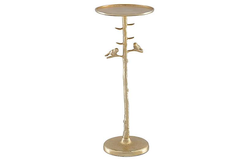 Piaf Drinks Table, Gold