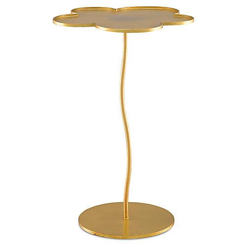 Fleur Accent Table, Gold Leaf