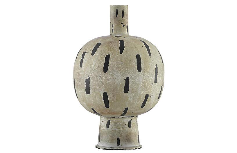 Declan Vase, Cream/Black