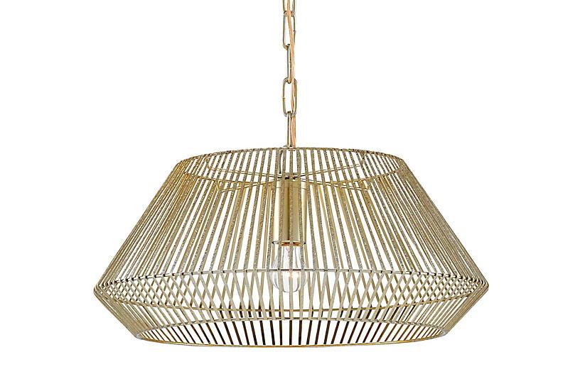 Pollinger Small Pendant, Shiny Gold