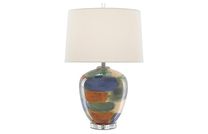 Rainbow Table Lamp, Blue/Green