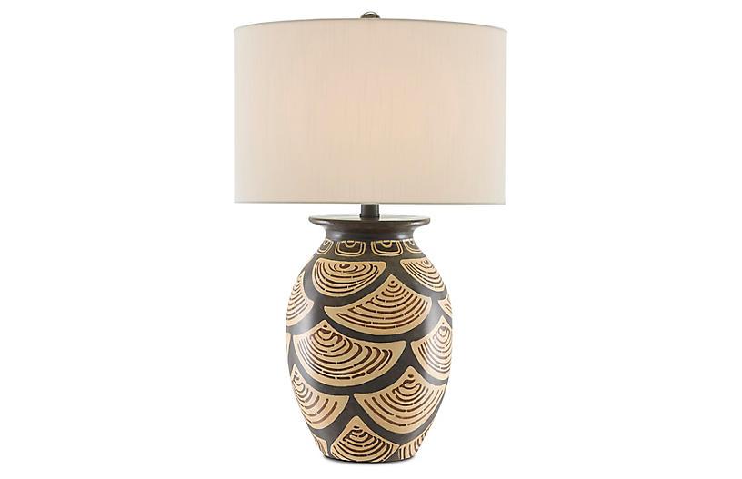 Nahau Table Lamp, Sand/Brown