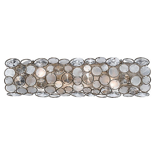 Palla 4-Light Bath Bar, Antiqued Silver