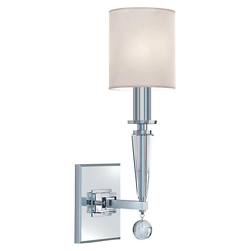 Paxton Sconce, Polished Nickel