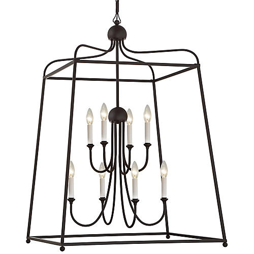 Sylvan Two-Tier Chandelier, Dark Bronze