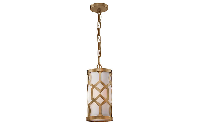 Libby Langdon 4-Light Pendant, Brass