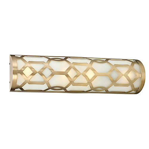 1-Light Bath Bar, Aged Brass