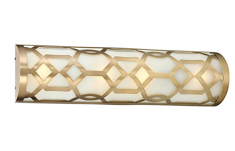 1-Light Bath Bar, Aged Brass