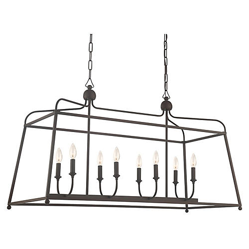 Sylvan 8-Light Chandelier, Dark Bronze