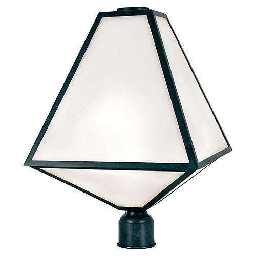 Glacier 3-Light Post Lamp, Black Charcoal
