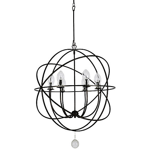 Solaris Outdoor Chandelier, English Bronze