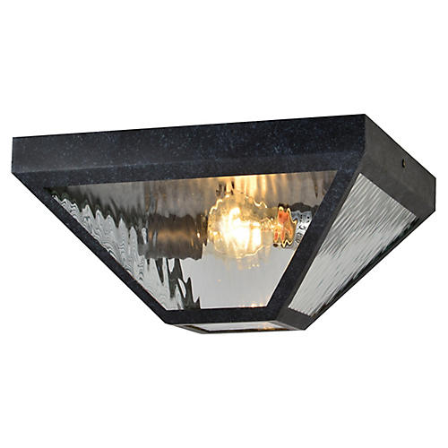 Glacier Outdoor Flush Mount, Black Charcoal