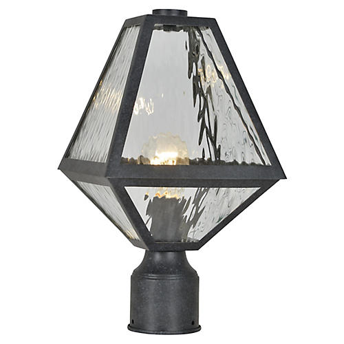 Glacier Post Lamp, Black Charcoal