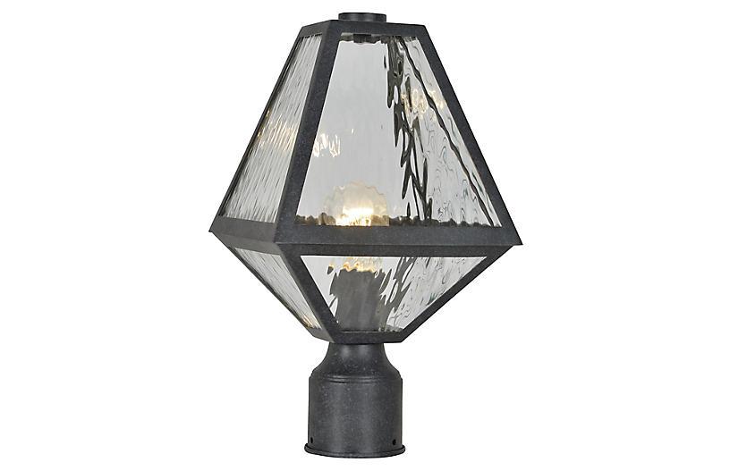 Glacier Post Lamp, Black Charcoal