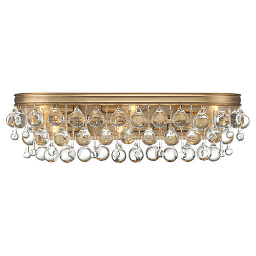Calypso 6-Light Bath Bar, Vibrant Gold