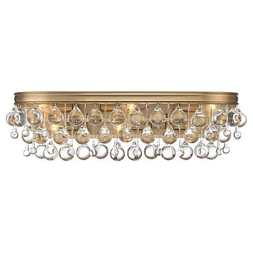 Calypso 6-Light Bath Bar, Vibrant Gold