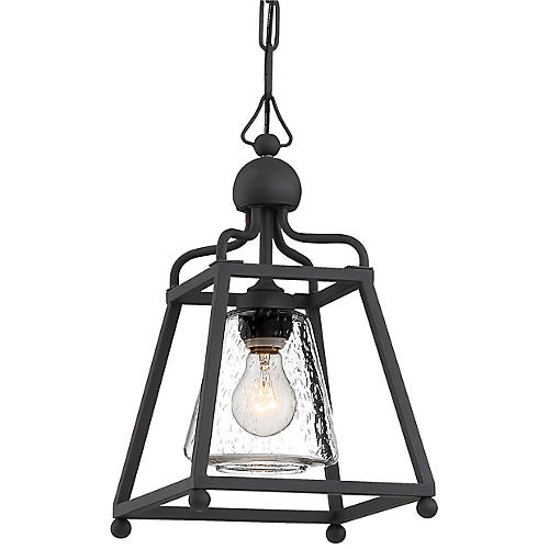 Sylvan Outdoor Pendant, Black Forged