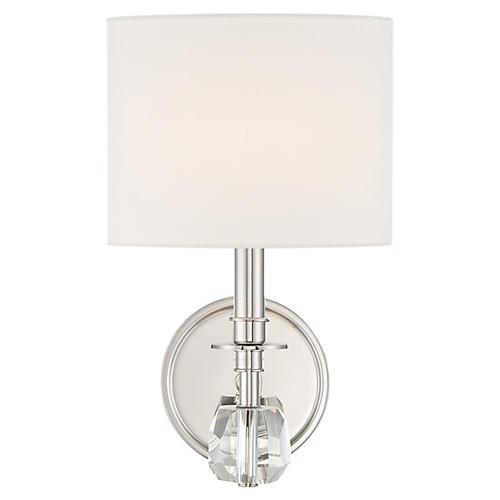 Chimes Sconce, Polished Nickel