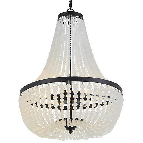 Rylee 6-Light Chandelier, Matte Black