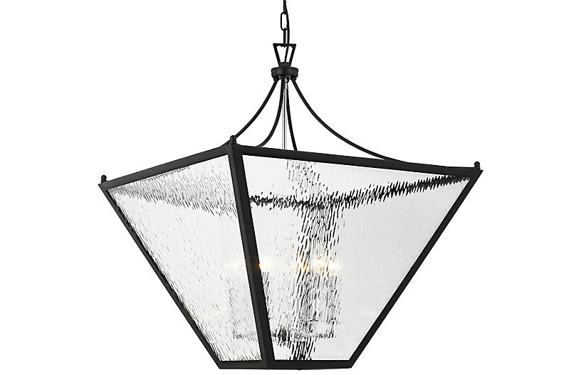 Park Hill 6-Light Lantern, Matte Black