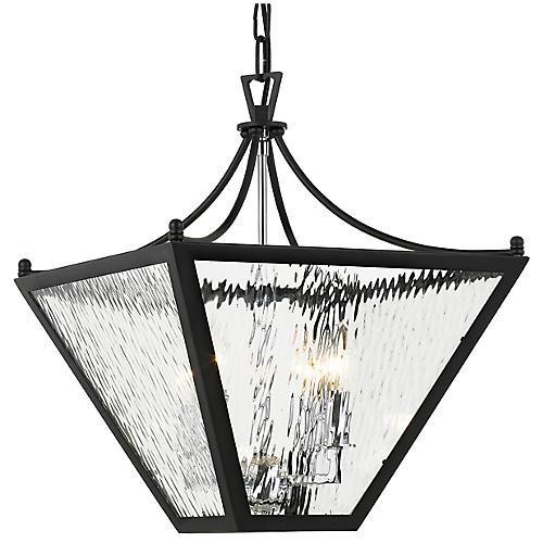 Park Hill 4-Light Lantern, Matte Black