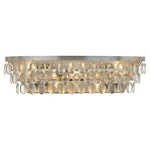 Perla 5-Light Bath Bar, Antiqued Silver