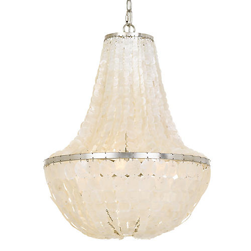 Brielle 6-Light Chandelier, Antiqued Silver