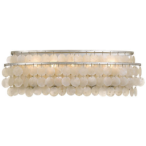 Brielle 5-Light Bath Bar, Antiqued Silver