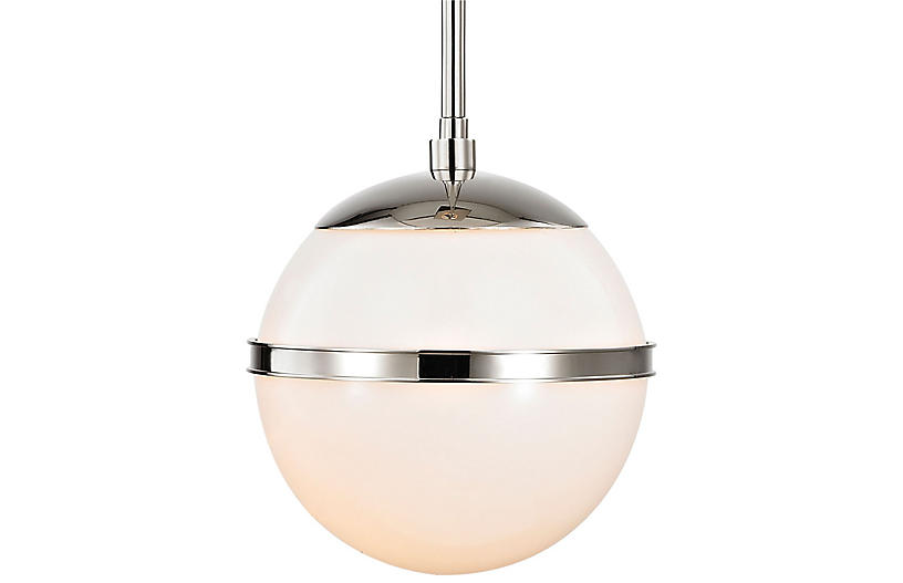 Truax Mini Pendant, Polished Nickel