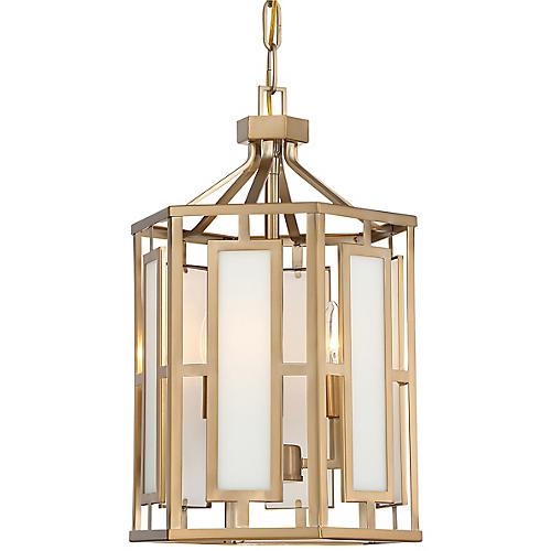 Hillcrest 2-Light Chandelier, Vibrant Gold