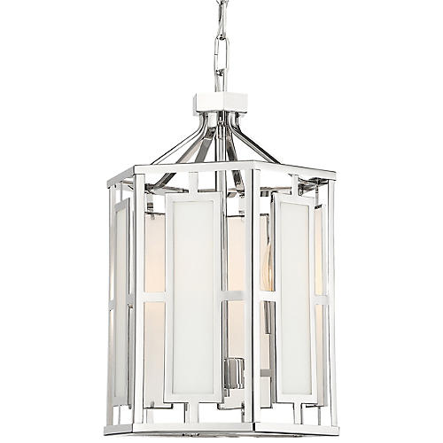 Hillcrest 2-Light Chandelier, Polished Nickel