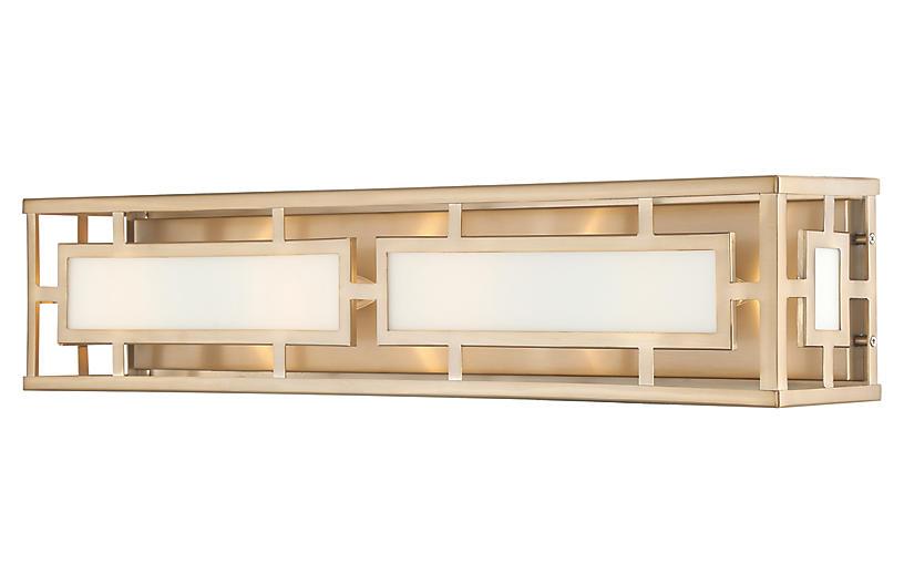 Hillcrest 4-Light Bath Bar, Vibrant Gold