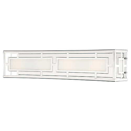Hillcrest 4-Light Bath Bar, Polished Nickel