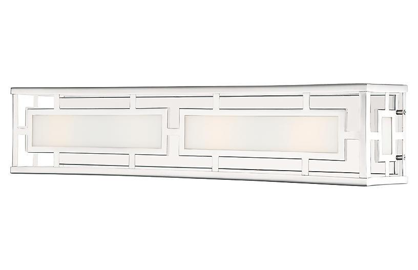 Hillcrest 4-Light Bath Bar, Polished Nickel