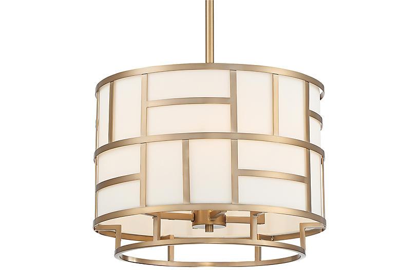 Danielson 4-Light Chandelier, Vibrant Gold
