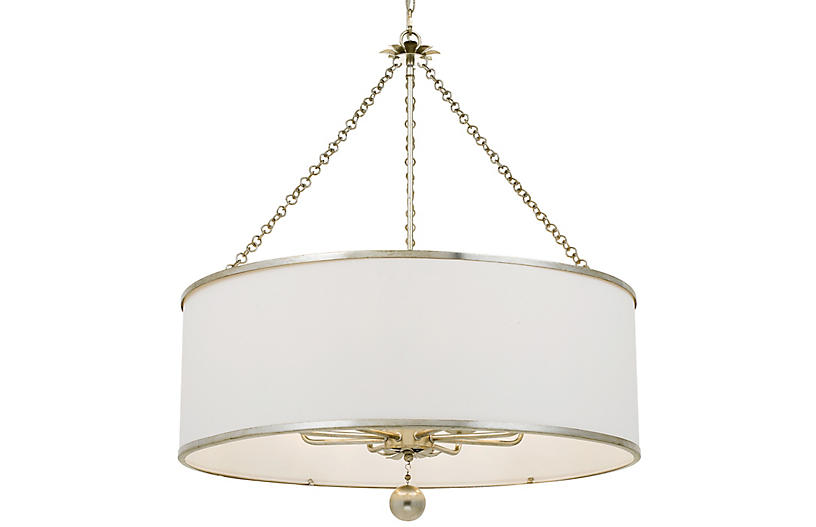 Broche Chandelier, Antiqued Silver