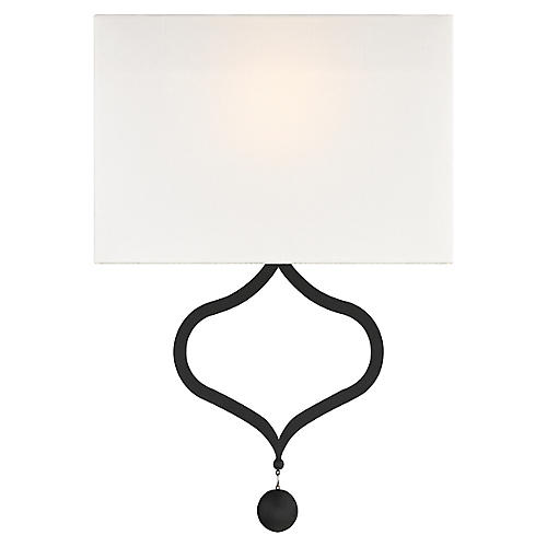 Derby Sconce, Black Forged