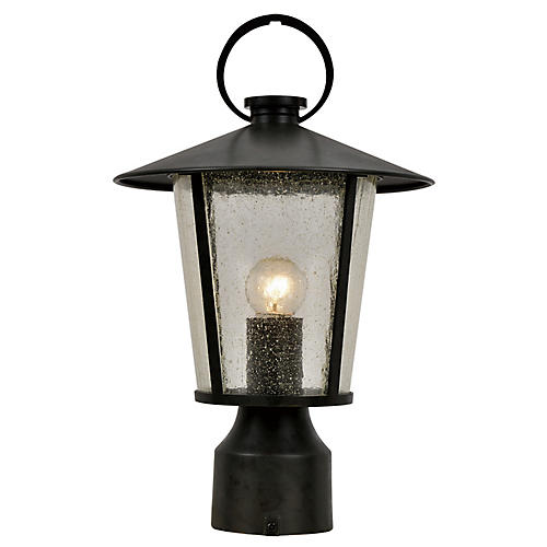 Andover Outdoor Post Mount, Matte Black