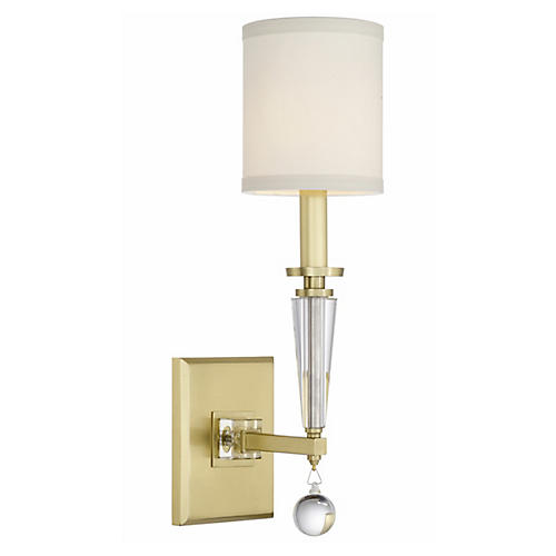 Paxton Sconce, Antiqued Gold