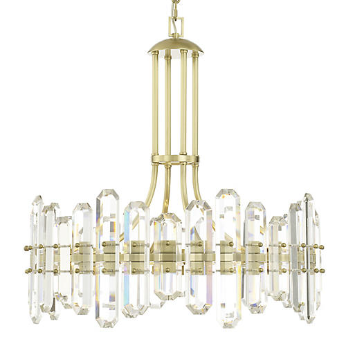 Bolton Chandelier, Aged Brass