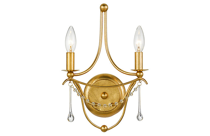 Metro Sconce, Antiqued Gold