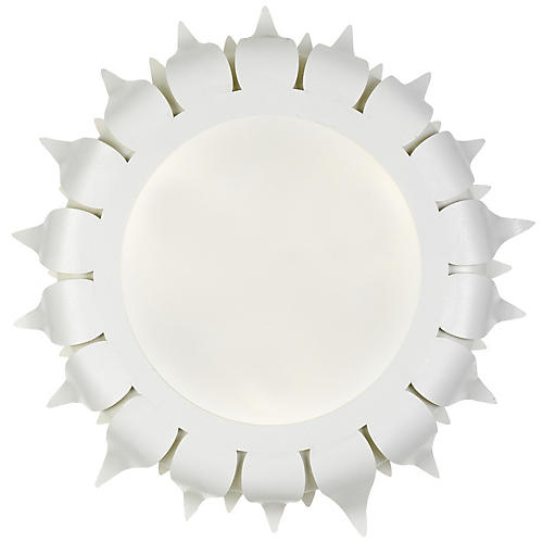 Broche Flush Mount, Matte White