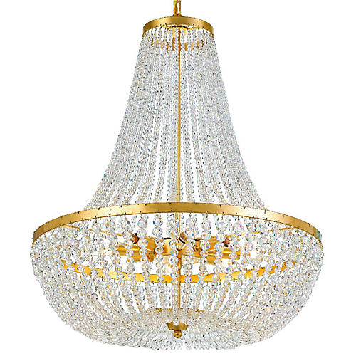 Rylee Chandelier, Antiqued Gold