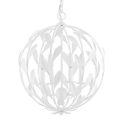 Broche Chandelier, Matte White