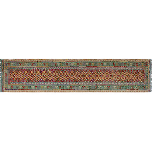 "2'11""x13'3"" Laiqshah Runner, Red/Gold"