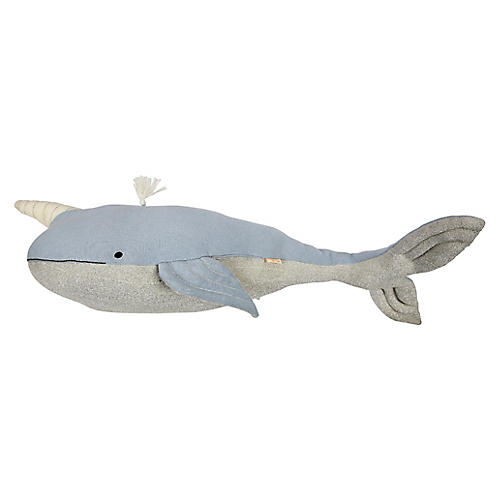 Otto Kids' Narwhal Toy, Blue