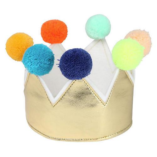 Dress-Up Kids' Crown, Gold/Multi